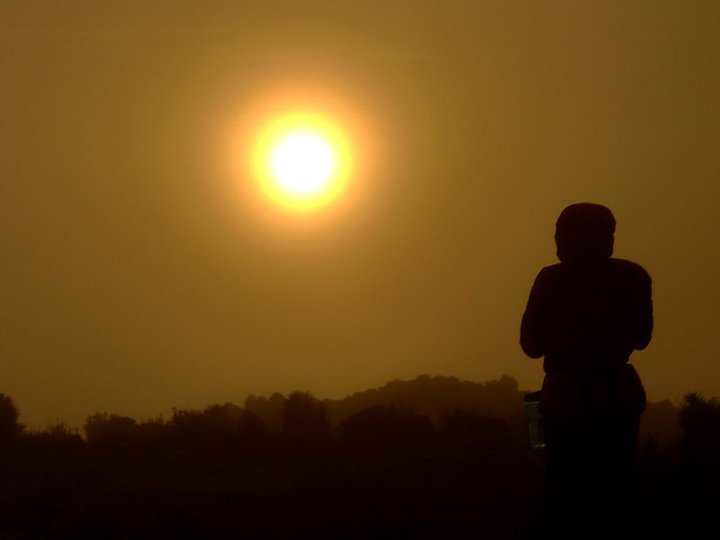 sunrise Santa Maria volcano